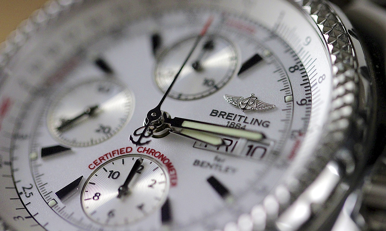 Breitling Bentley Replica GT silver dial